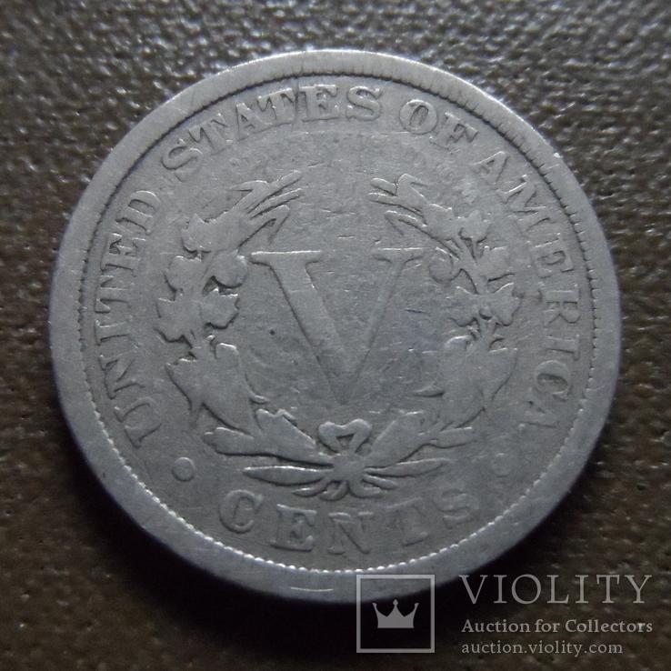 5 центов 1906  США   (К.37.8)~, фото №3