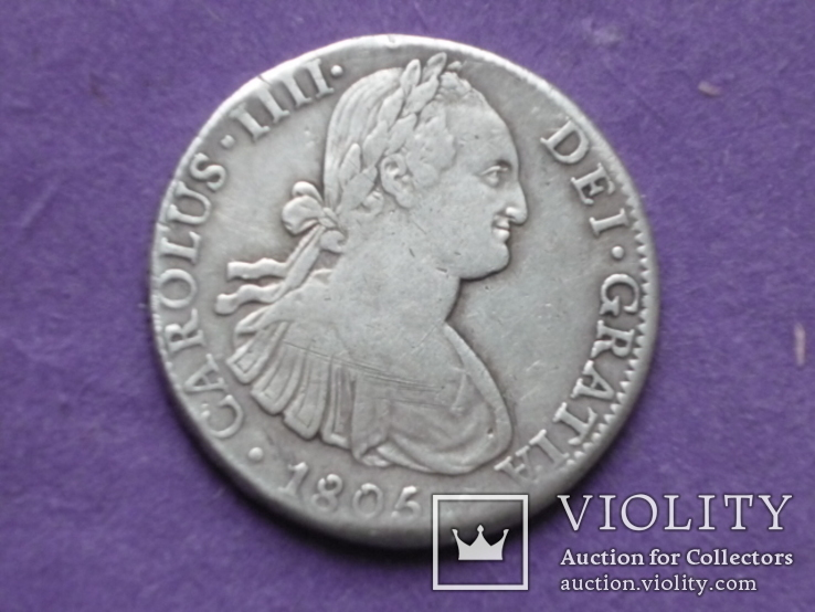 8 реалов 1805г. Серебро.