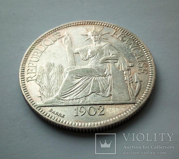 1 пиастр 1902 г. Французкий Индокитай