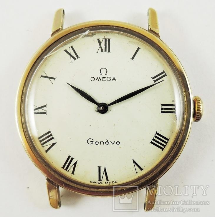 Часы Omega на ходу. Позолота 20 микрон