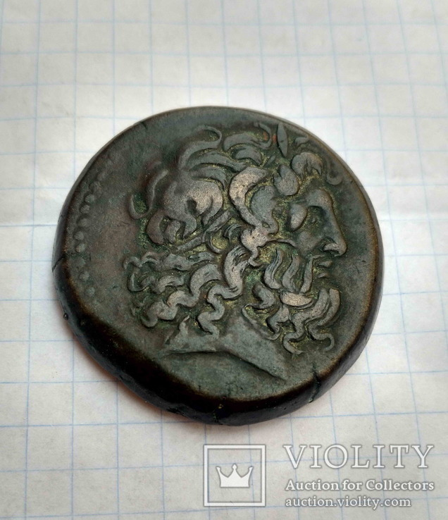 AE41,  Пьолемей IV, 221-205 до н.е., мідна драхма, Александрія.