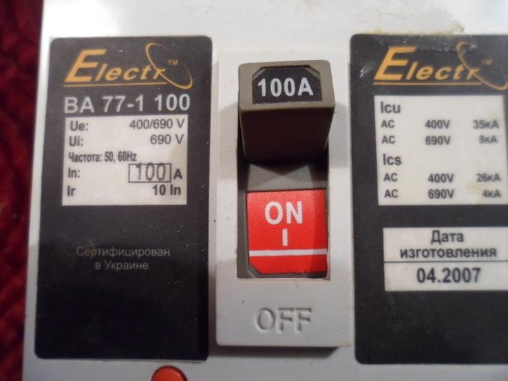 Автоматический выключатель. 100А., фото №3