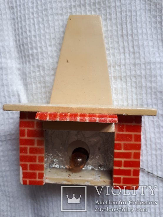 Игрушка камин ГДР рабочий для домика, фото №2