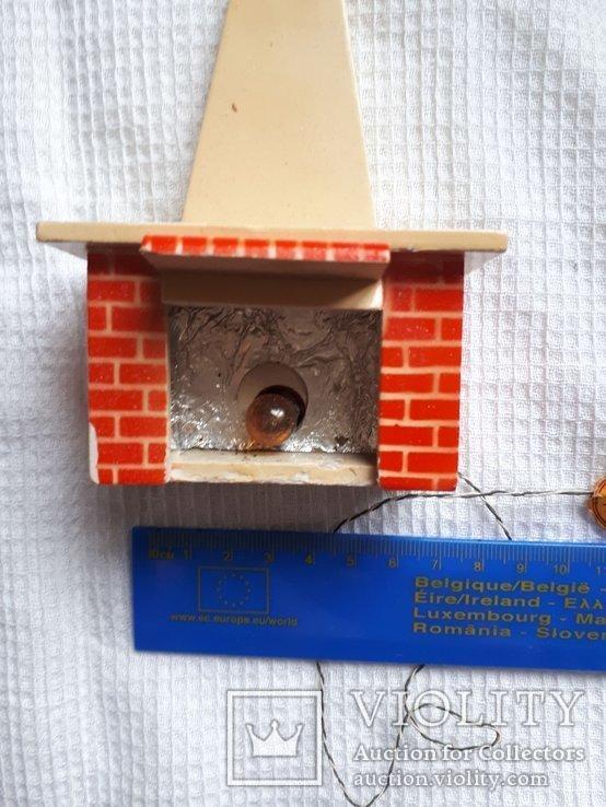 Игрушка камин ГДР рабочий для домика, фото №7