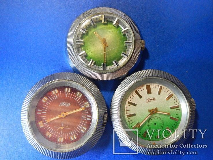 Трое крупных мужских часов периода СССР (шайбы)