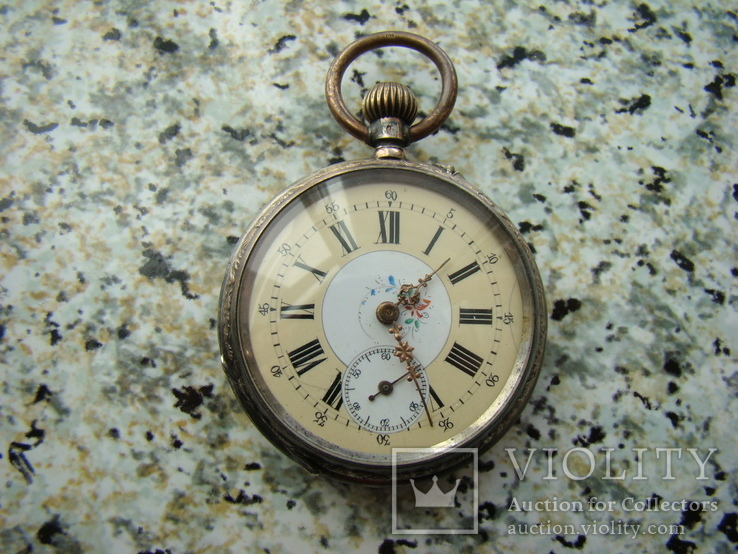Часы карманные XIX век Швейцария серебро, фото №2