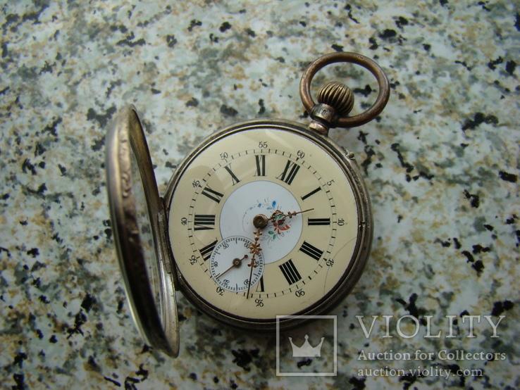 Часы карманные XIX век Швейцария серебро, фото №4