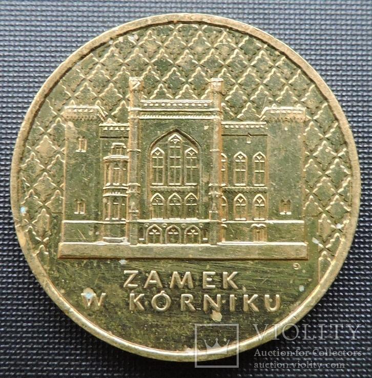 2 злотих 1998 Курницький замок