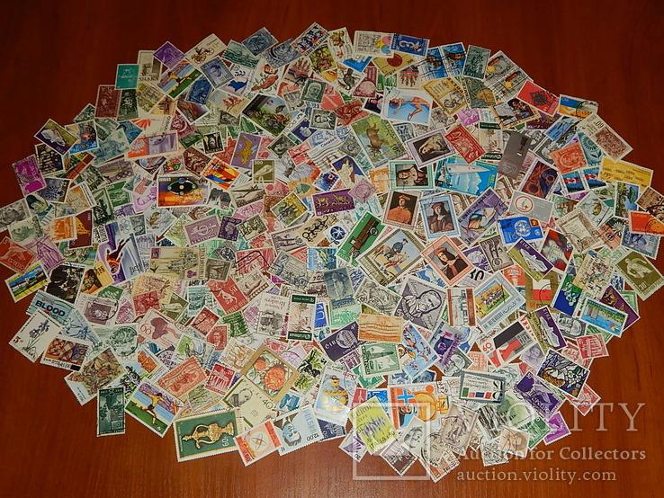 Почтовые марки разных стран мира 410 шт.