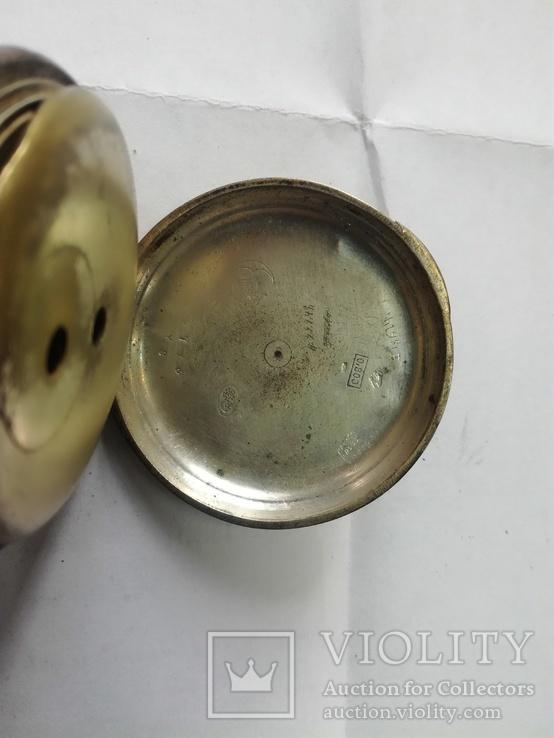 Часы в серебряном корпусе ключевка с клеймом., фото №7