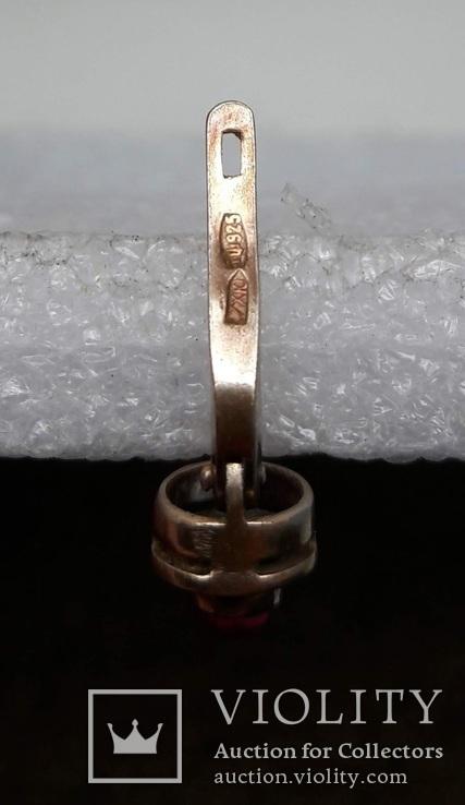 Серьга Серебро 925 Позолота, фото №7