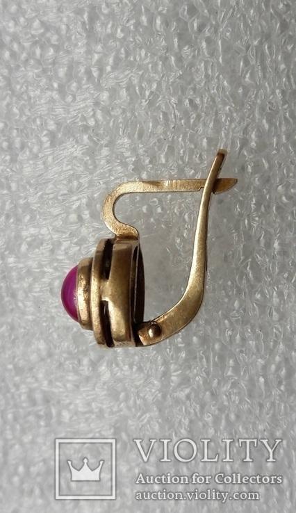 Серьга Серебро 925 Позолота, фото №13