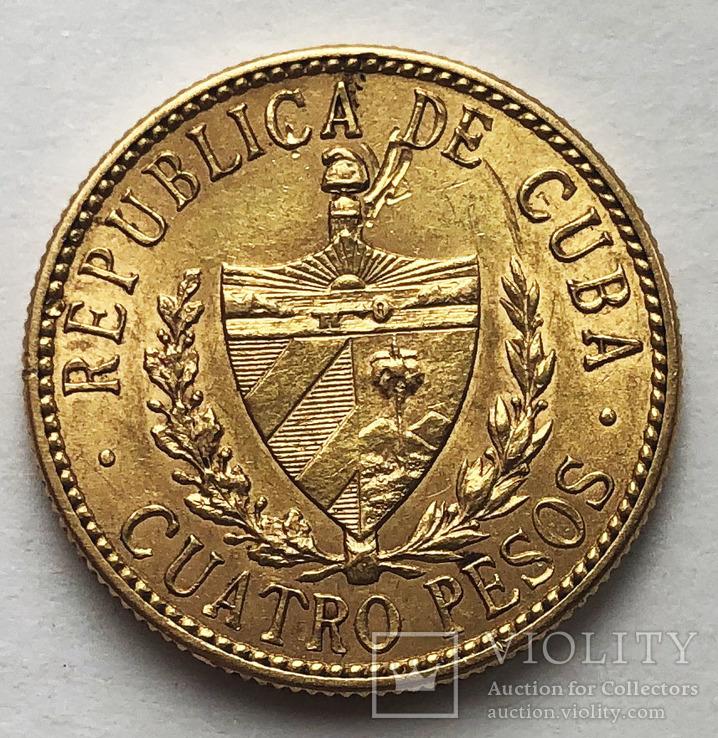 4 песо 1916 года. Куба. aUNC.