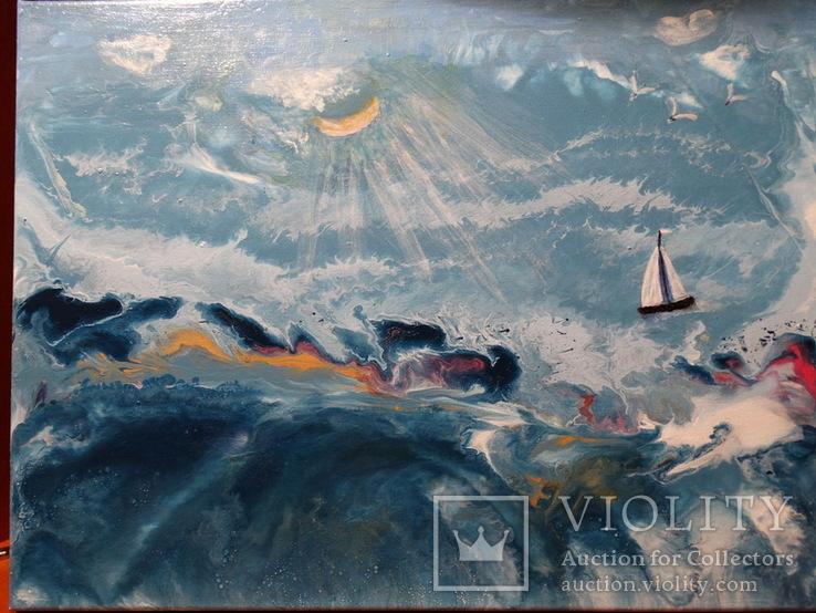 """Картина под названием """"Шторм на море"""", фото №2"""