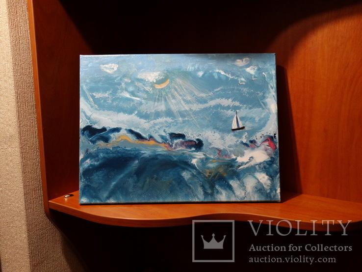 """Картина под названием """"Шторм на море"""", фото №4"""
