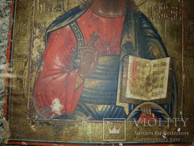 Икона Господь Вседержитель 31.5*27 см, фото №5