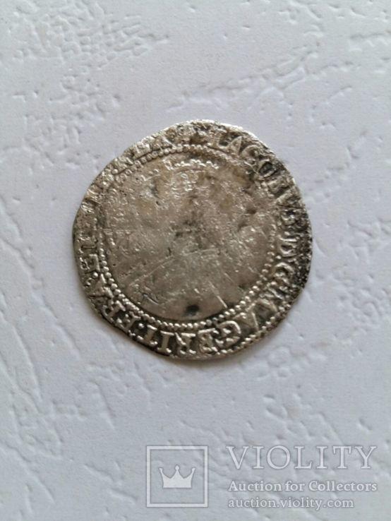 Джеймс І, 6 Пенсів, 1604., фото №3