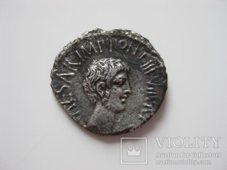 Денарий Триумвиры  Марк Антоний и Октавиан (41 г.до н.э.)
