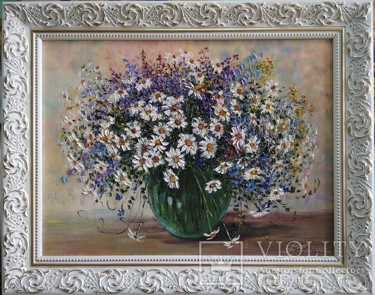 Полевые цветы автор Короткова Т.Г. холст масло 30х40