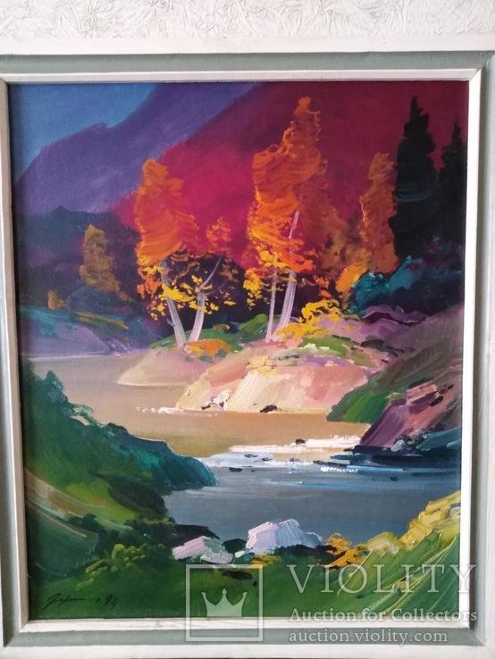 Доброчинний лот « Дерева над водою» 1994р, худ. Гарагонич.О