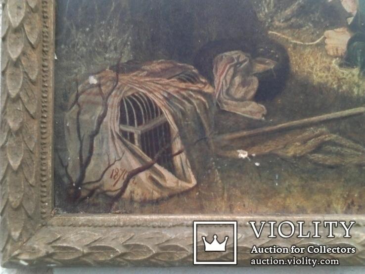 Репродукция. Птицелов с картины В. Перова (Москва 1962г.), фото №5