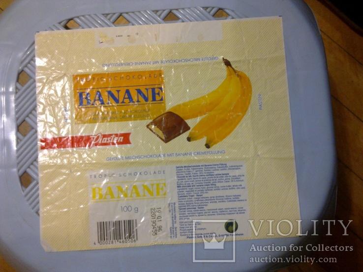 "Обертка (фантик) от шоколада ""Piasten"" банан, Германия, фото №2"