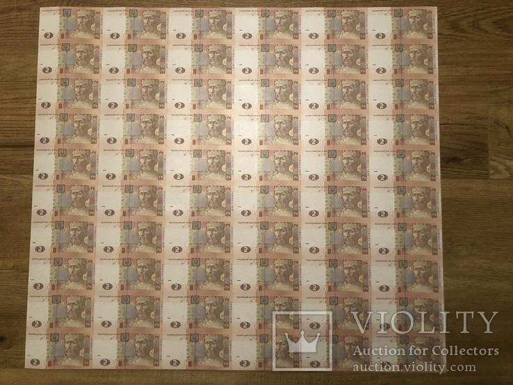 2 гривні 2018 лист 60 купюр