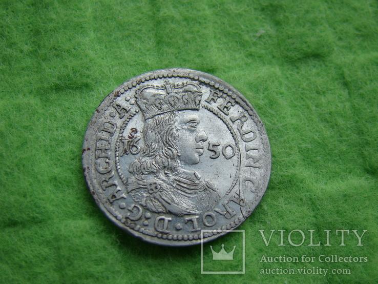 3 крейцери 1650 р. Фердінанд Кароль. Тіроль.