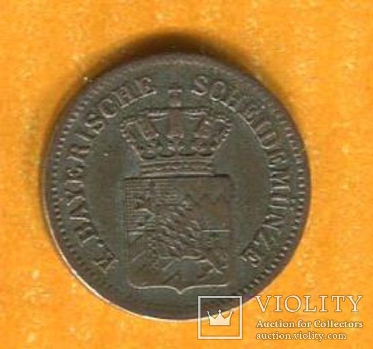 Германия Бавария 1 Крейцер 1866, фото №3
