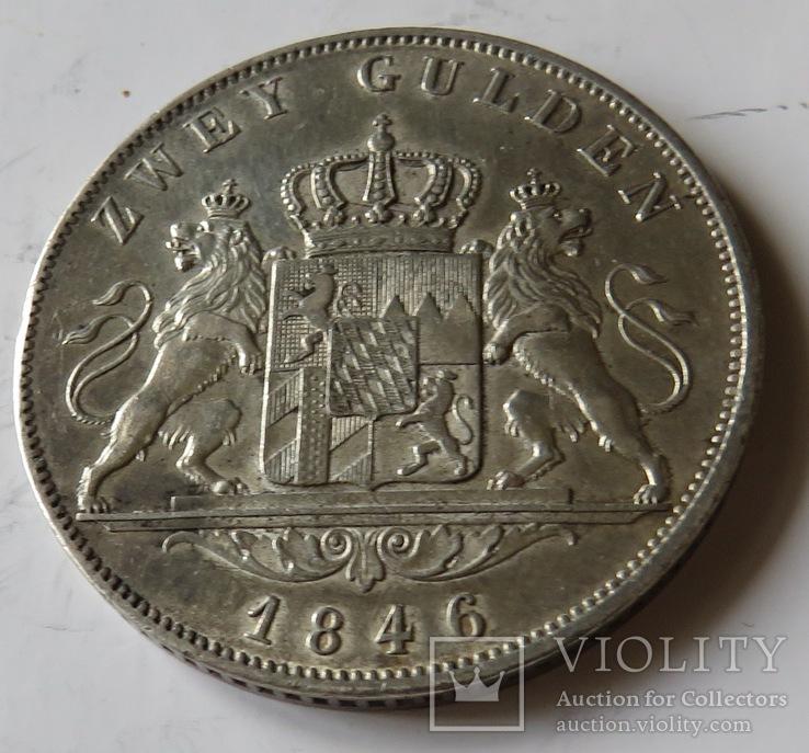 2 гульдена  1846года Людвига I короля Баварии