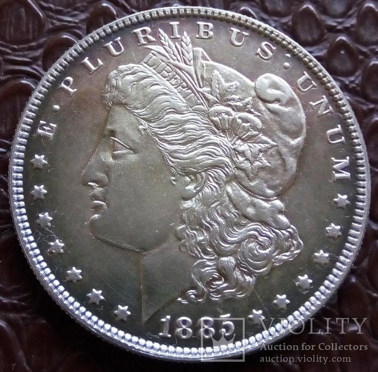 1 долар США 1885 р. Анциркулейт - срібло 900. См. обсуждение.