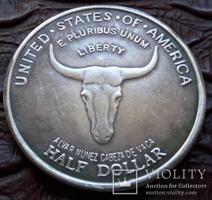 50 центів США 1935 р. Старий Іспанський шлях...( Ювілей, срібло)