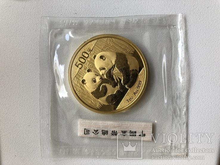 500 юаней 2009 год Китай золото 31,1 грамм 999,9'