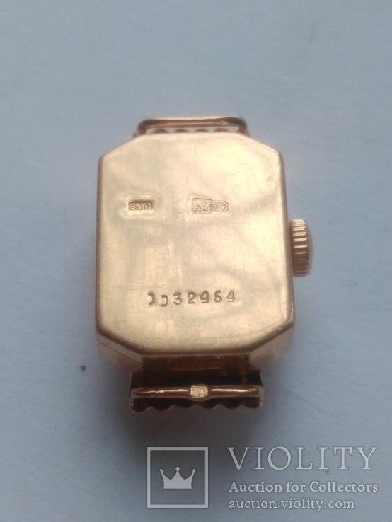 Золотые часы Наири 583 проба СССР 9 грамм, фото №5