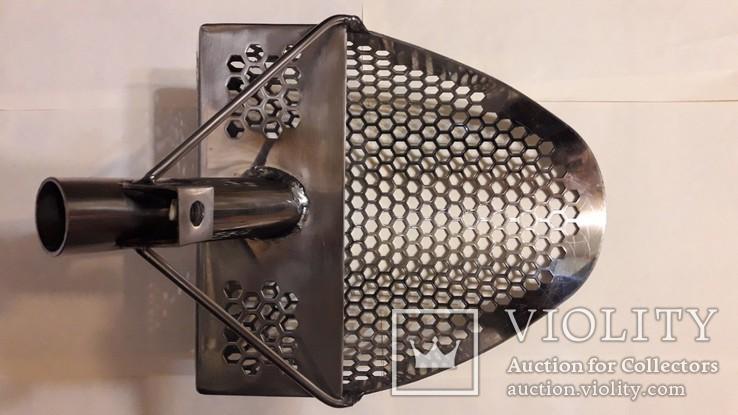 Скуб (скуп) большой ~295*205*110 мм, толщина 2 мм, вес 1160гр, нержавейка. Без ручки.