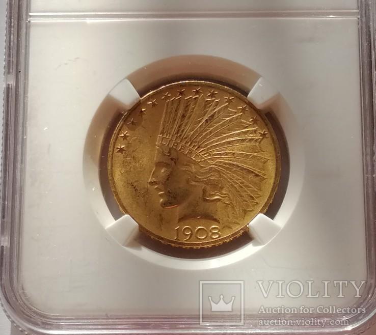 10 доларів 1908 року США (слаб)