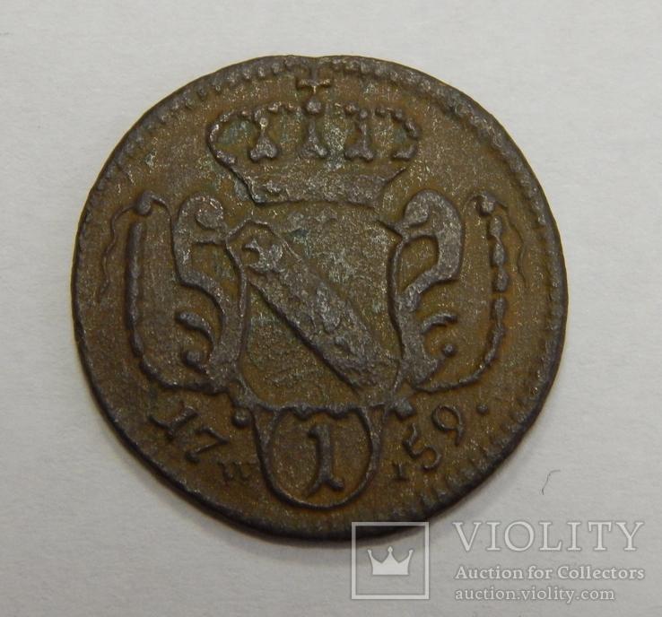 1 крейцер, 1759 г Австрия