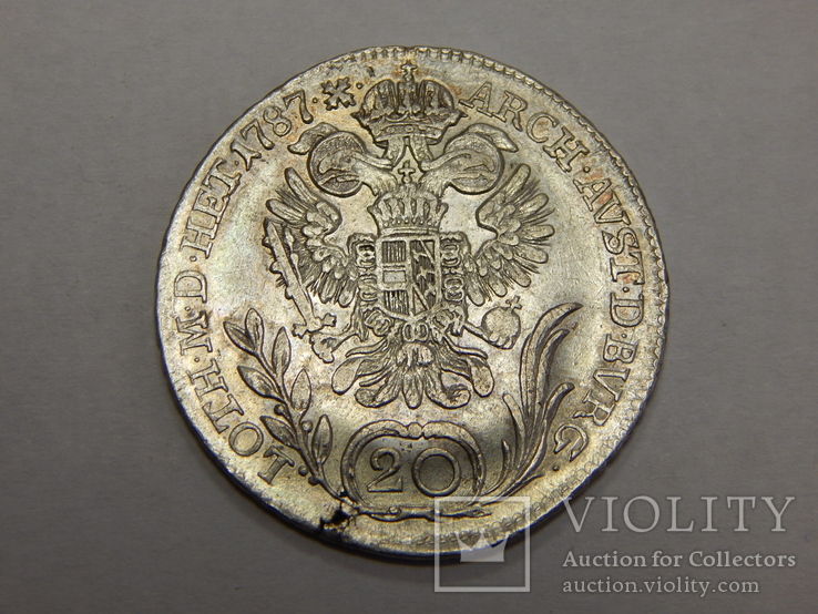 20 крейцеров, 1787 г Австрия