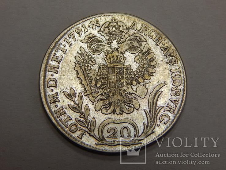 20 крейцеров, 1791 г Австрия