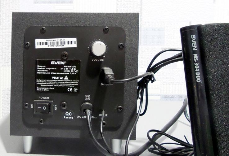 SVEN MS-304 DUO, Компьютерная акустика 2.1, фото №6