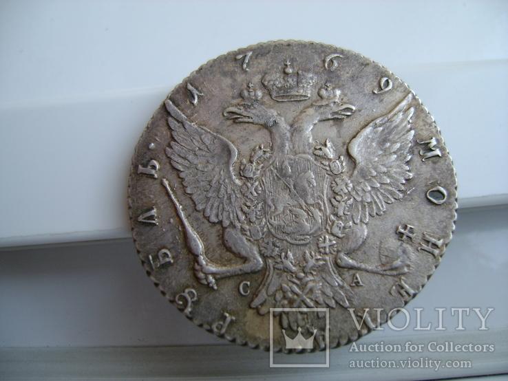 Рубль 1769 год СПБ. ТИ. СА Правление Екатерины 2