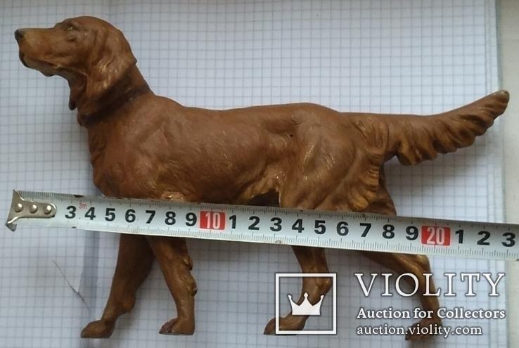 Большой старинный собачка в покраске., фото №3