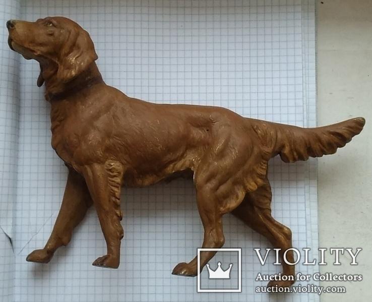 Большой старинный собачка в покраске., фото №4
