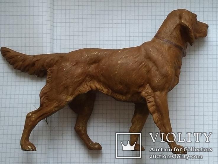 Большой старинный собачка в покраске., фото №8
