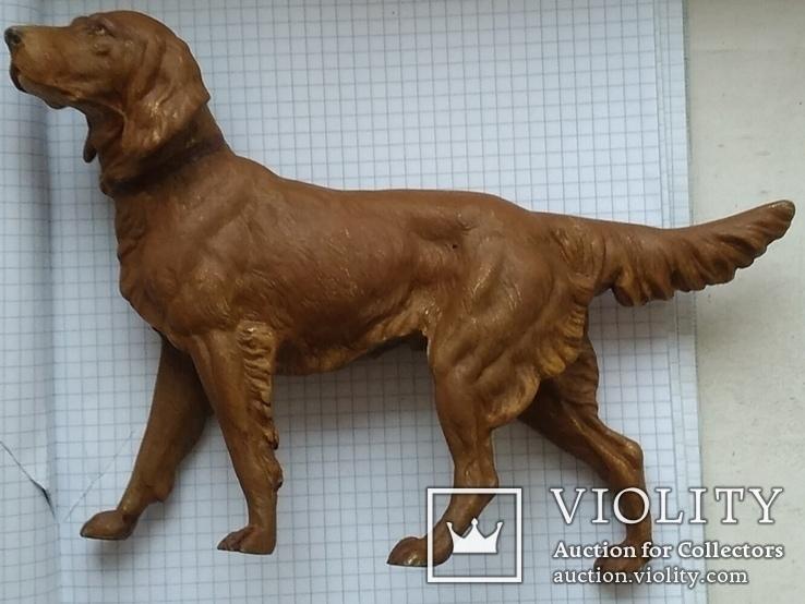 Большой старинный собачка в покраске., фото №9