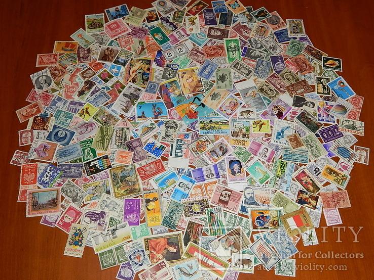 Почтовых марок  стран мира 345 шт.
