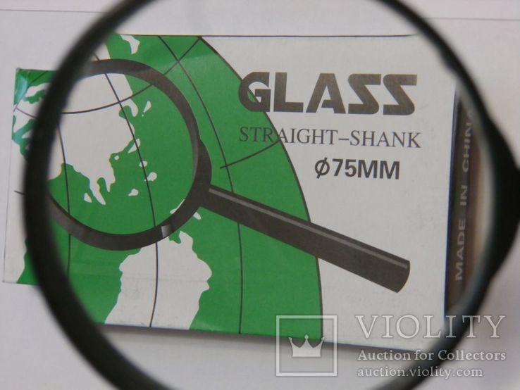 Лупа ручная Glass Straight Shank , диаметр 75 мм, фото №3