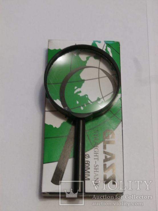 Лупа ручная Glass Straight Shank , диаметр 60 мм  (, фото №3