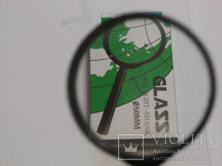 Лупа ручная Glass Straight Shank,диаметр 50 мм, фото №3