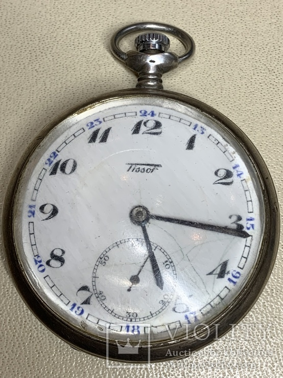 Серебрянные швейцарские часы (рабочие)(2)